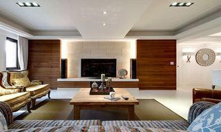 实木美式家装 客厅电视背景墙设计
