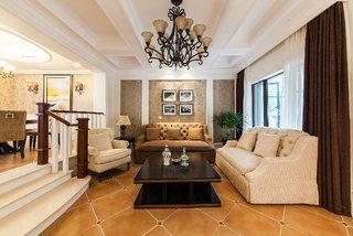 优雅大方美式风格复式室内装修设计效果图