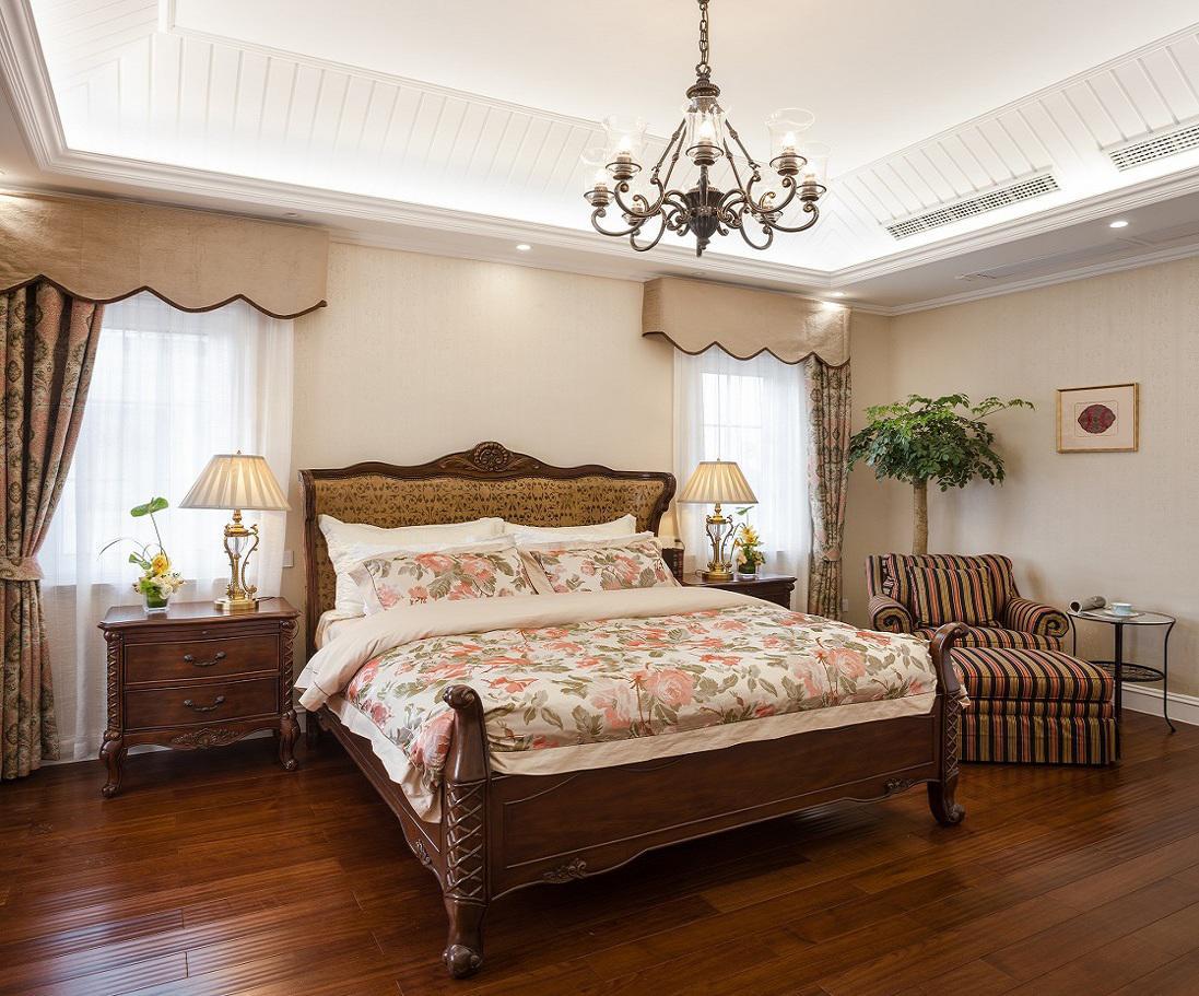 美式乡村卧室家装案例图