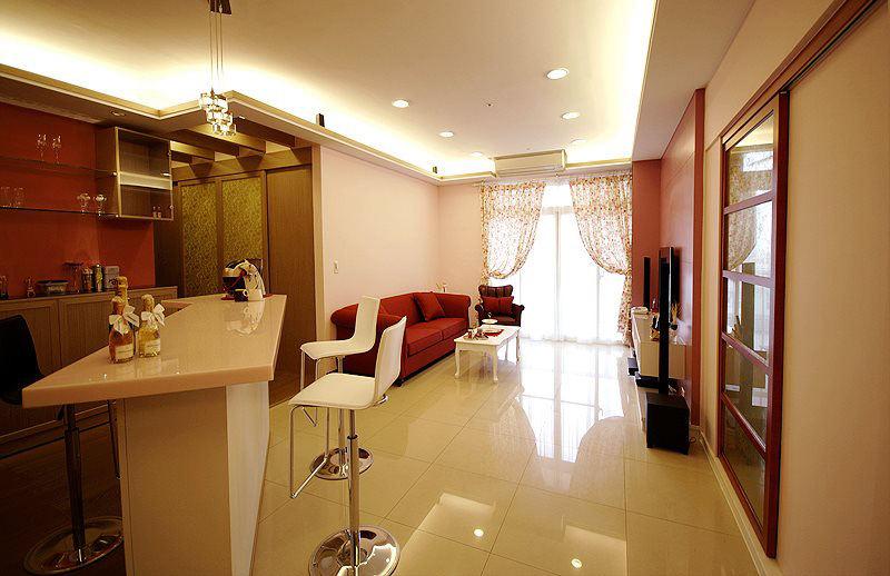 新房室内吧台简约现代设计