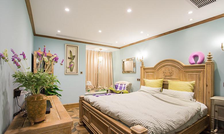 清新浅绿色新古典风格卧室设计