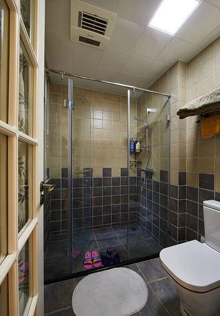 复古美式卫生间淋浴房设计