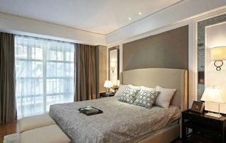 美式装修风格卧室窗帘装饰效果图