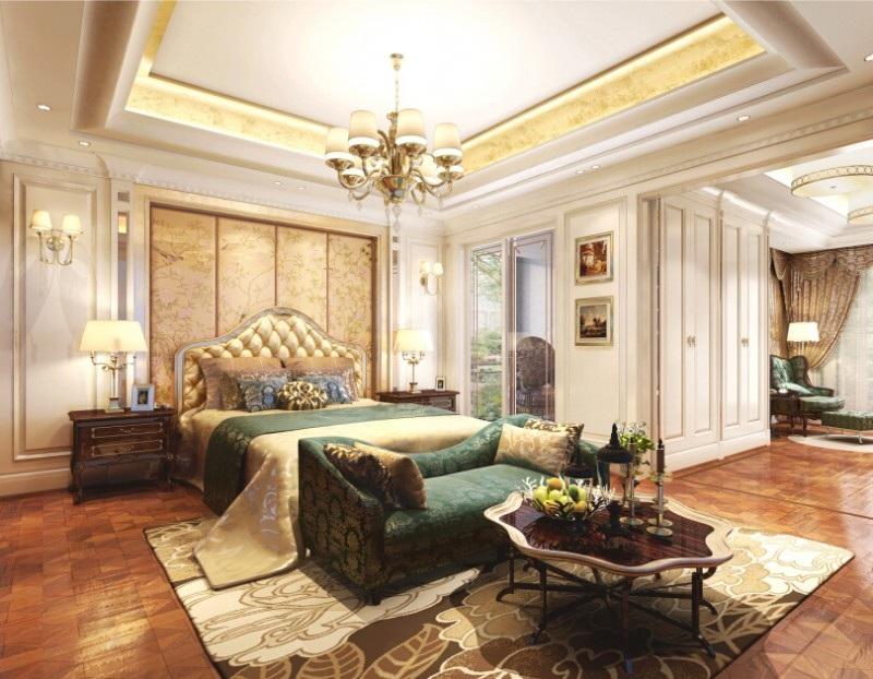 奢华欧式宫廷风卧室效果图