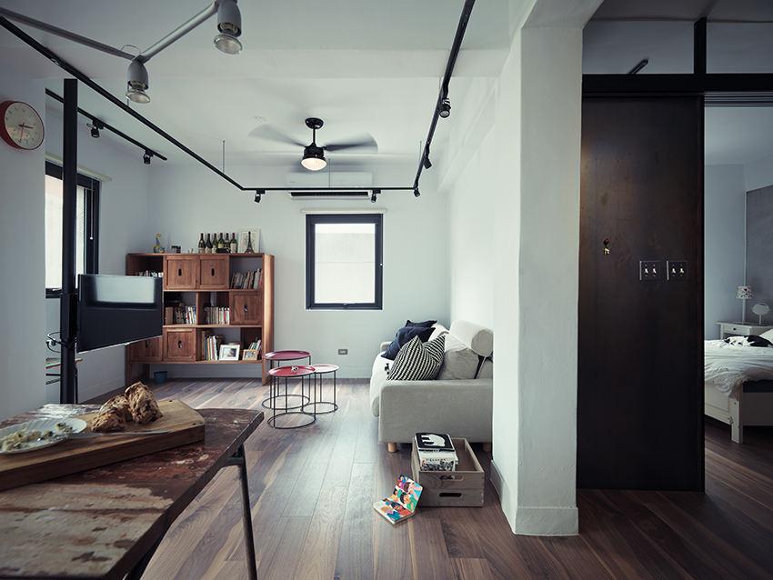 黑色现代工业风 公寓混搭设计