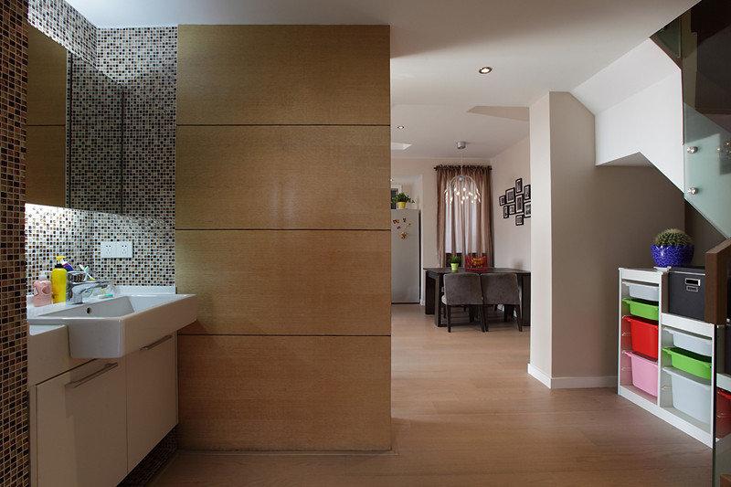 复式室内家装日式隔断墙设计