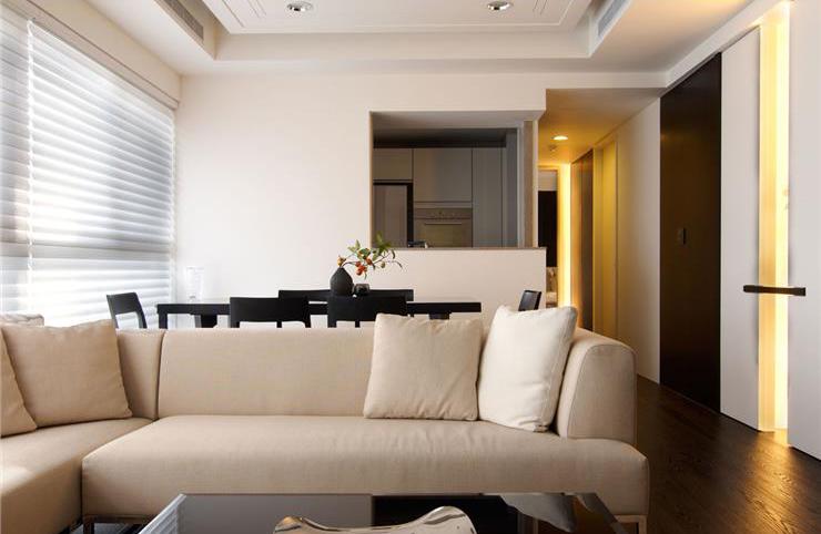 最新简约时尚客厅沙发配置图