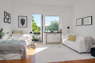 40平米自然简洁北欧小户型单身公寓装修案例图