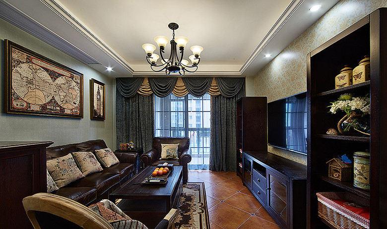 精致复古美式客厅装饰大全