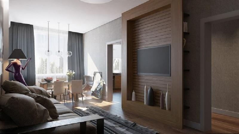 典雅现代一居室装修设计