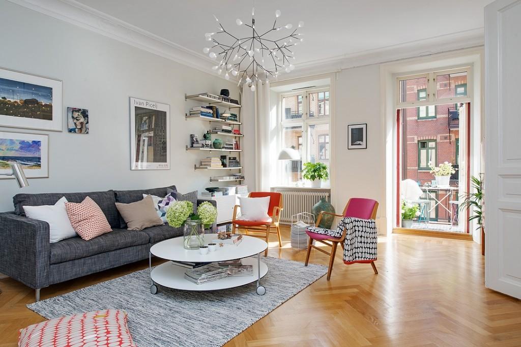 清新多彩北欧风格小公寓设计