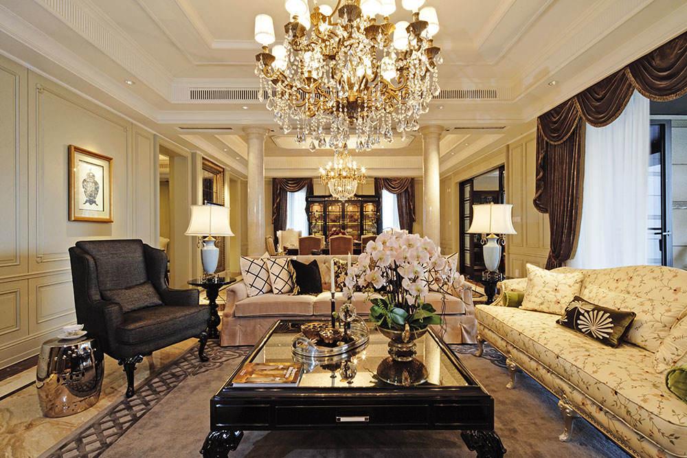奢华古典欧式客厅效果图