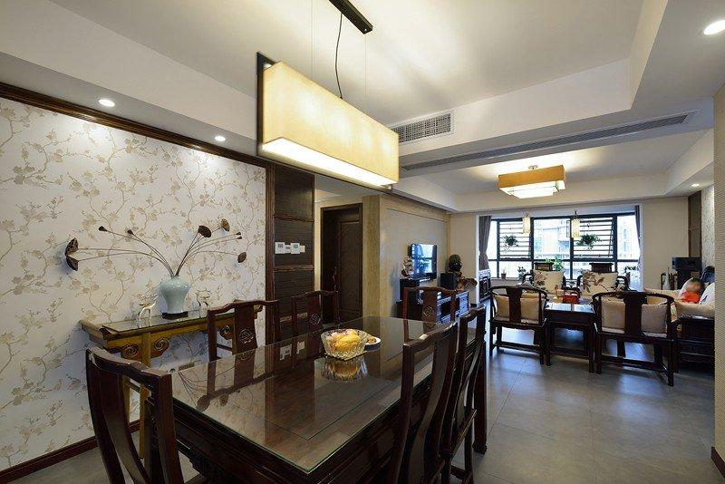 典雅中式客餐厅 吊顶效果图