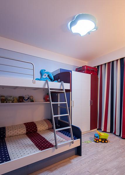 靓丽色彩混搭儿童房效果图