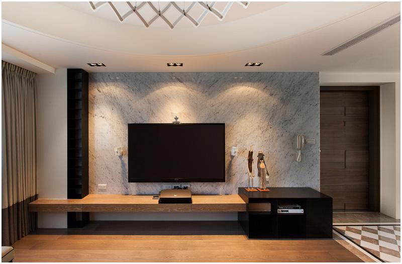 现代时尚大理石背景墙设计