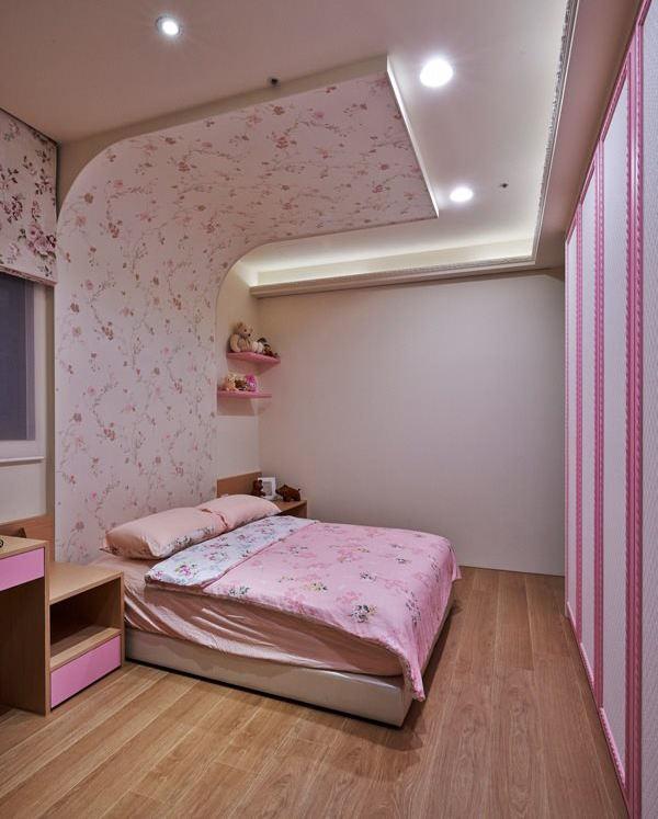 个性甜美田园风卧室吊顶效果图