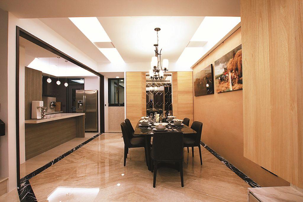 时尚后现代风家装餐厅设计装修图