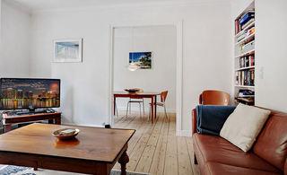 简朴自然北欧风格小户型一居室装潢图片