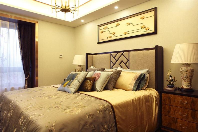 时尚新中式卧室家居装饰设计