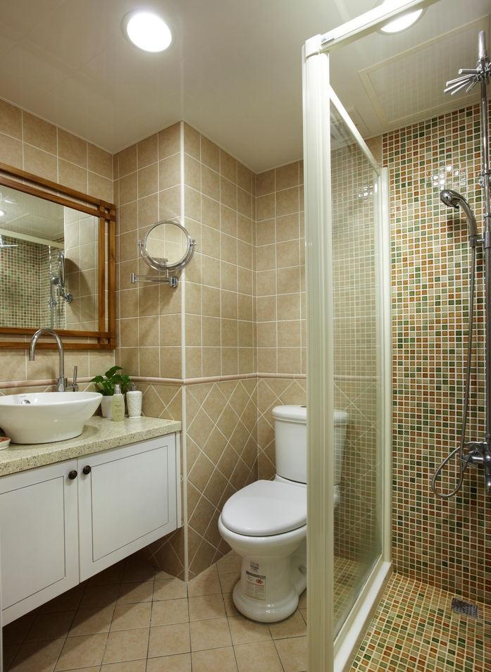 温馨宜家风马赛克卫生间设计