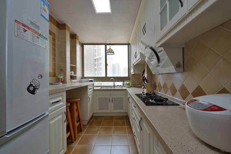 简约地中海风格厨房石英石台面装饰图