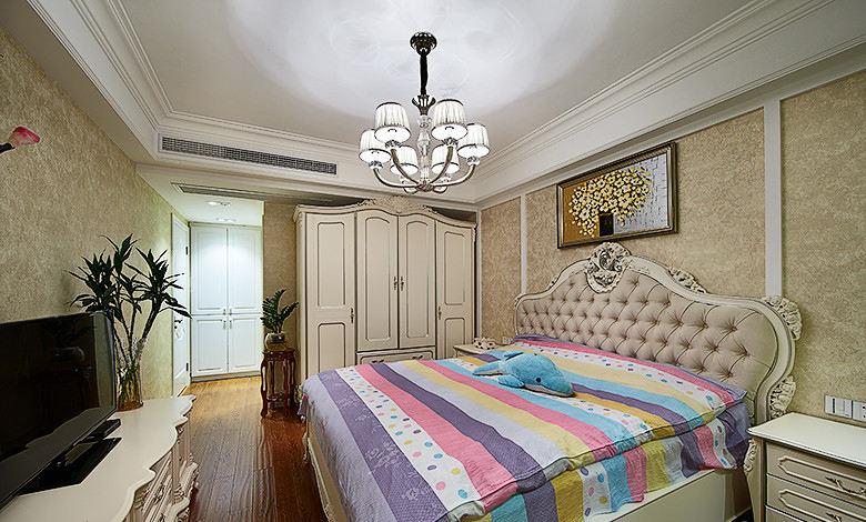 时尚复古欧式卧室装潢效果图