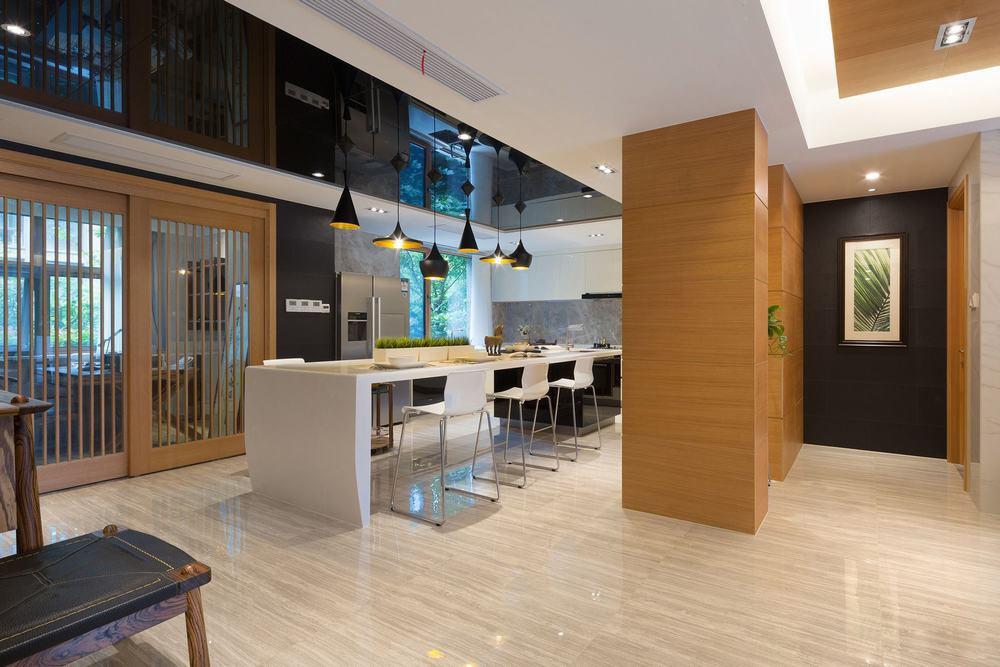 时尚现代风餐厅玄关隔断墙设计