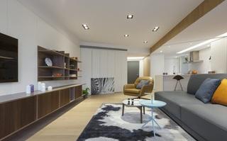 时尚优雅简洁台湾风情单身公寓设计欣赏