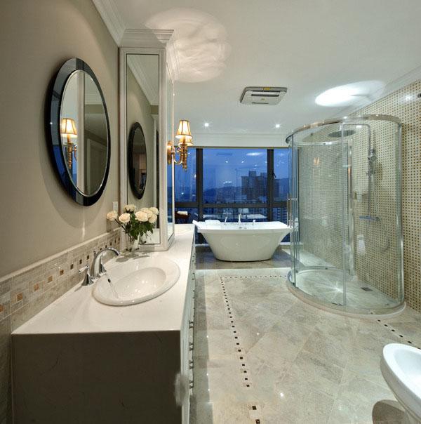 豪华现代家装卫生间设计