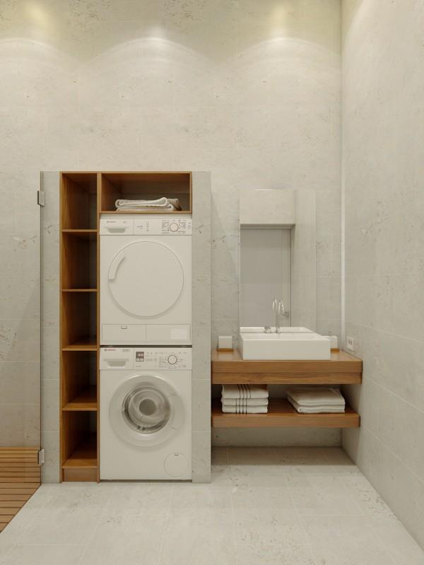 温馨宜家日式卫生间干区工作台设计