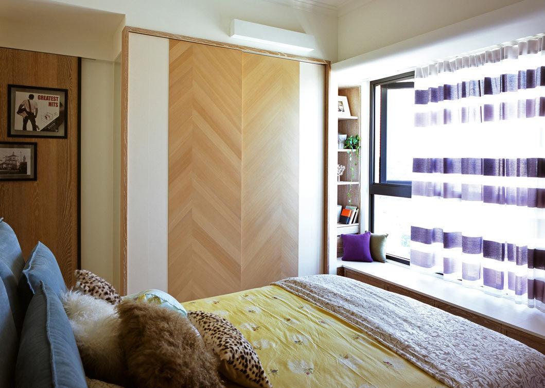 美式风格三室一厅卧室效果图