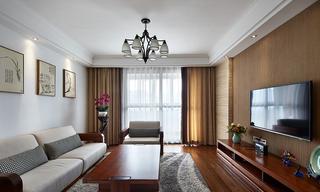 素雅简美式三居室实木家装设计