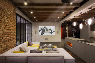 美式复古风装修公寓效果图