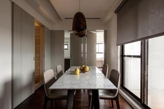 浅咖色简约现代风餐厅设计