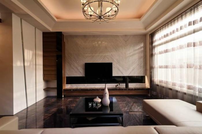 混搭风格130平米三室两厅设计