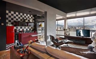 时尚缤纷复古巴西风混搭公寓装潢设计