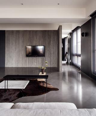 家装现代原木电视背景墙设计