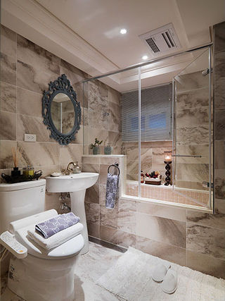 奢华欧式新古典大理石卫生间设计欣赏