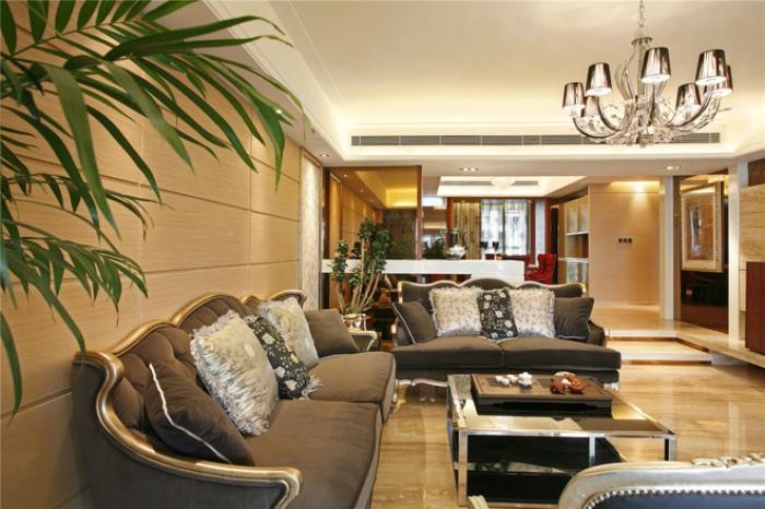 古典贵气美式家居客厅装修效果图