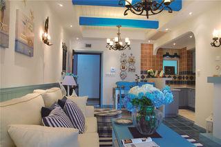 68平打造精致梦幻海蓝色地中海小户型美宅效果图