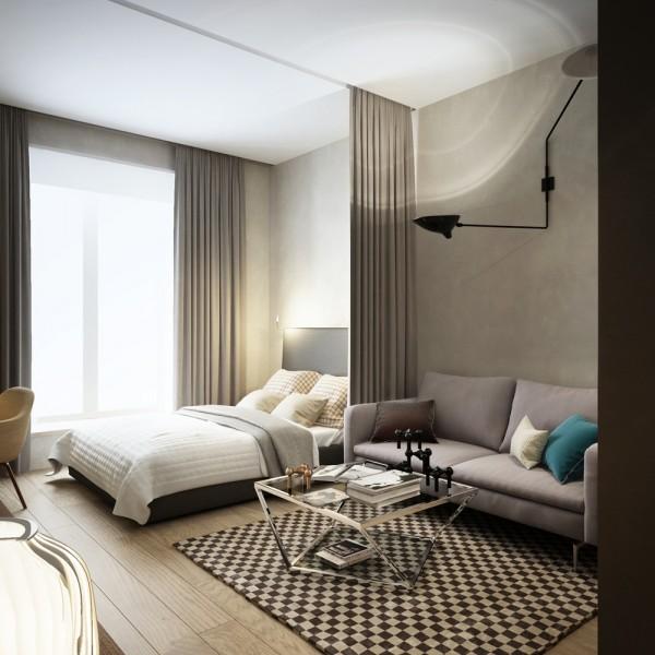 时尚现代单身公寓装修设计