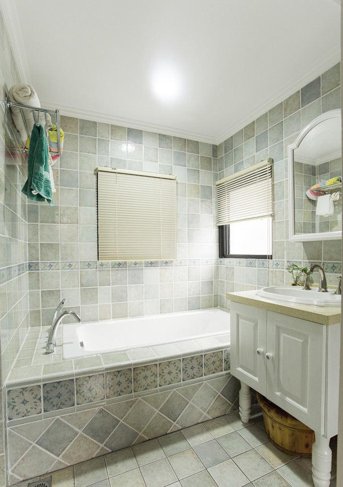 梦幻素色美式卫生间浴室设计效果图