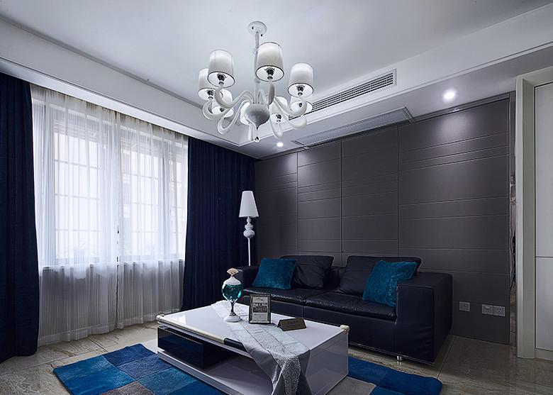 沉稳现代风格三室两厅装修图片