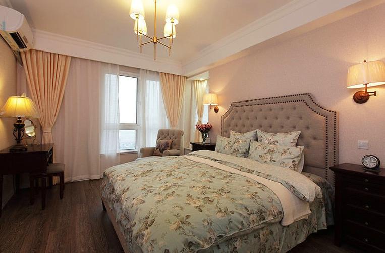 简约时尚现代卧室灯光效果图