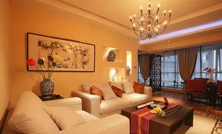 精美新中式客厅沙发背景墙设计