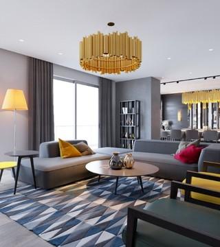 时尚黑色摩登波普风混搭公寓设计
