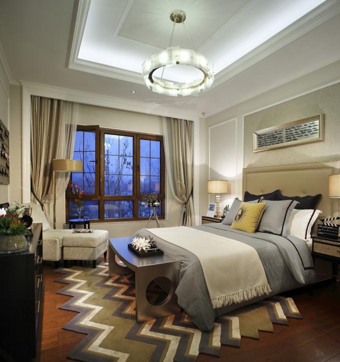 华丽美式后现代卧室装饰大全欣赏