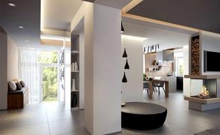 现代欧式家装隔断设计