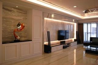 新古典室内电视背景墙效果图