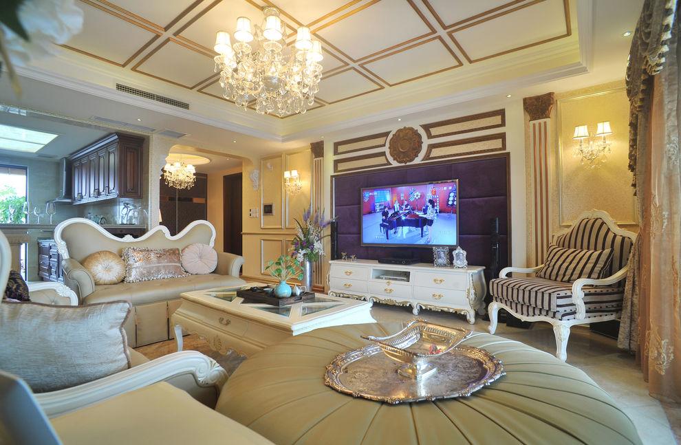 精美奢华欧式客厅装修效果图
